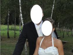 Przepiękna suknia ślubna z kolekcji W1 WHITE ONE   kolor śmietankowa biel