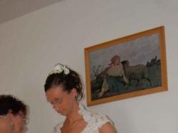 Przepiękna suknia ślubna z koronki w kolorze ecru