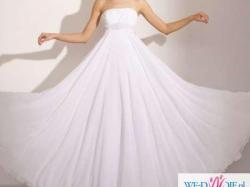 Przepiękna suknia slubna z muślinu