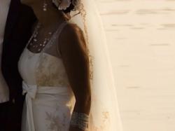 Przepiękna suknia ślubna z trenem