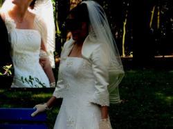 Przepiękna suknia w najmodniejszym romantycznym fasonie, rozmiar 38
