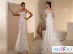 Przepiękna suknia White One model 424 z kolekcji hiszpańskiej firmy San Patrick