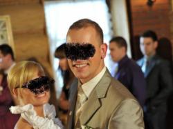 PRZEPIĘKNY I JEDYNY garnitur ślubny!!!!!!!!!!!! zobacz a się przekonasz...