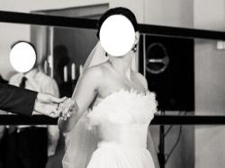 PRZEŚICZNA, zwiewna suknia ślubna (Madonna Exclusive)