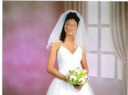 Prześliczna biała suknia ślubna!