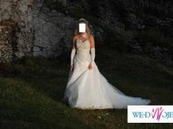 Prześliczna Francuska Suknia Ślubna firmy Farage