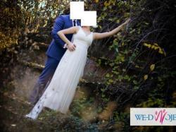 przesliczna grecka suknia pronovias mali magia biala ecru 34 36 38