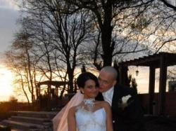 Prześliczna suknia FARAGE GALAXY biała + platyna