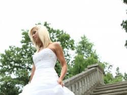 przesliczna suknia slubna