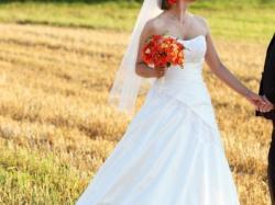 Prześliczna suknia ślubna COSMOBELLA 7252