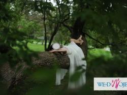Prześliczna, zwiewna, romantyczna suknia ślubna w stylu greckim