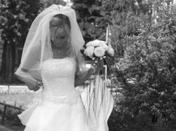 Przeurocza sukienka DEMETRIOS 7151 biała. Ślub był w lipcu 2006