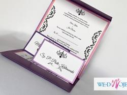 Ręcznie robione zaproszenia i dodatki ślubne