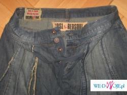 RED SOUL- jeansowa  plisowana, marszczona spódniczka biodrówka