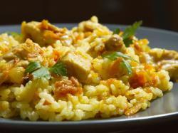 Risotto curry z kurczakiem