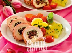Roladki z kurczaka z suszonymi pomidorami