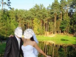 ROMANTYCZNA I EFOKTOWNA  BIAŁA SUKNIA ROZMIAR 38