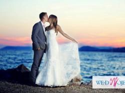 Romantyczna koronkowa suknia ślubna