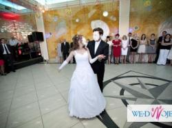 Romantyczna, niepowtarzalna biała suknia ślubna 36