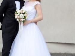 Romantyczna suknia RONALD JOYCE PATIENCE 66041 - angielski styl