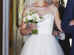 Romantyczna suknia ślubna 34/36; również cywilny