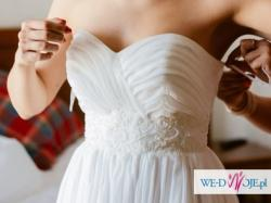 Romantyczna suknia ślubna AdaLove z welonem Pronovias