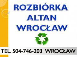 Rozbiórka altan, cennik, tel 504-746-203, demontaż, rozebranie, rozbiórka