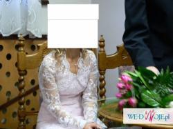 Różowa suknia ślubna rozmiar 34-36