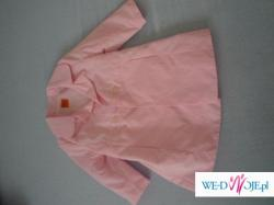 Różowy płaszczyk roz. 74 (9-12m-cy)