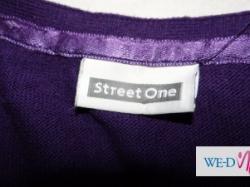 Rozpinany fioletowy sweterek