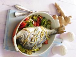 Ryba pieczona z imbirem