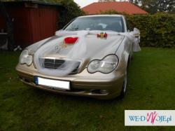 Samochód auto do ślubu komunii itp ! ZŁOTY  MERCEDES C200K ! TANIO