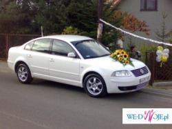 samochód do ślubu auto na wesele Biała limuzyna Passat dekoracja Gratis !!!!!!!!
