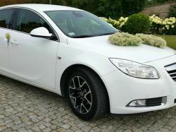 Samochód do ślubu, Płock – biała Insignia