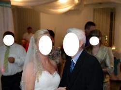 Satynowa suknia ślubna