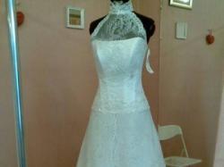 Skromn suknia dla szczupłej panny młodej