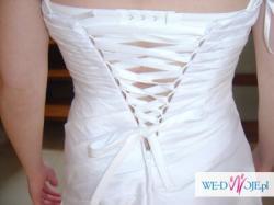 Skromna ale śliczna suknia ślubna naprawdę warto!!!
