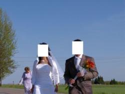 Skromna Biała Suknia-jednoczęściowa