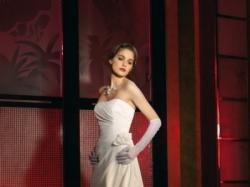 "Skromna i bardzo eleganca suknia ślubna ""Just For You"", rozmiar 36-38"