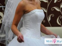 skuknia ślubna rozmiar 36,38 piękna bajkowa model księżniczka !!!!!!