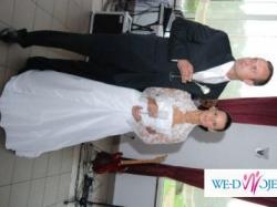 śliczna, biała sukienka ślubna
