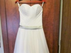 Śliczna biała sukienka ślubna rozmiar 36
