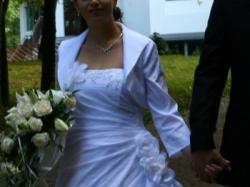 Śliczna biała suknia rozm.38