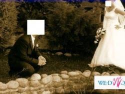 śliczna, biała suknia ślubna