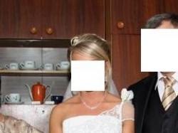 Śliczna biała suknia ślubna dla wyjątkowej kobiety :)