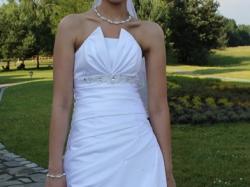 Śliczna, biała suknia ślubna. Rozm.36/38