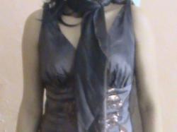 śliczna brązowa suknia w cekiny !!!polecam