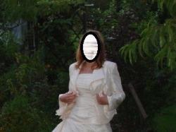 Sliczna brzoskwiniowa suknia