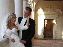 Śliczna francuska suknia ślubna Farage