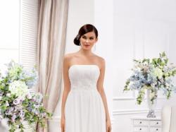 śliczna i prosta zwiewna suknia ślubna